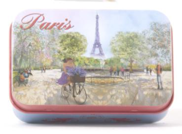 Seifen Dose aus Blech mit Motiv  Paris