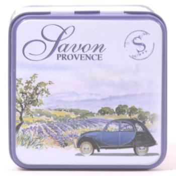 Seifen Dose aus Blech mit Motiv der Provence BE02-20