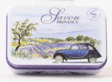 Seifen Dose aus Blech mit Motiv der Provence B02