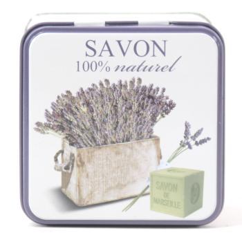 Seifen Dose aus Blech mit Motiv der Provence B05