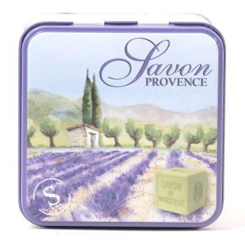 Seifen Dose aus Blech mit Motiv der Provence BE01