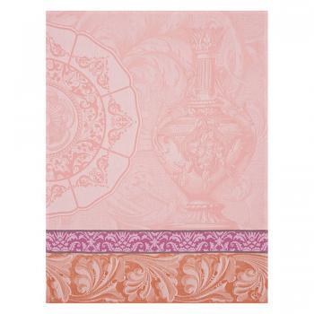 Le Jacquard Francais Geschirrtuch  Baroque Porcelaine Rose